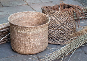 Sweetgrass baskets by Charlie Kennard