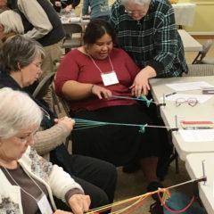 Lynn teaching braiding