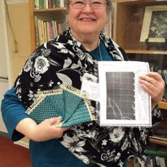 Lynn with mug rug samples