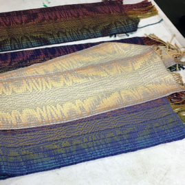 Ruby Leslie's advancing twill scarves