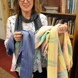 Marta Shannon's baby blanket and scarf